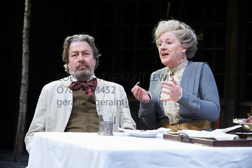 Uncle Vanya by Anton Chekhov,Translated by Michael Frayn ,directed by Jeremy Herrin. With  Roger Allam as Vanya, Maggie Steed as Maria Vasilyevna. Opens at The Minerva Theatre, Chichester  on 5/4/12 CREDIT Geraint Lewis