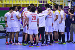 Japan team group (JPN), <br /> AUGUST 17, 2018 - Handball : Men's Preliminary Round match between <br /> Korea 26-26 Japan at GOR Popki Cibubur during the 2018 Jakarta Palembang Asian Games in Jakarta, Indonesia. <br /> (Photo by MATSUO.K/AFLO SPORT)