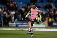 26th February 2020; Estadio Santiago Bernabeu, Madrid, Spain; UEFA Champions League Football, Real Madrid versus Manchester City; Bernardo Silva (Manchester City)  Pre-match warm-up