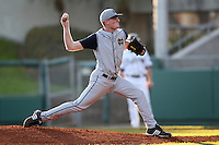 Pitcher Cole Johnson #37 of the Notre Dame Fighting Irish during the Big East-Big Ten Challenge vs. the Purdue Boilermakers at Al Lang Field in St. Petersburg, Florida;  February 19, 2011.  Notre Dame defeated Purdue 19-2.  Photo By Mike Janes/Four Seam Images