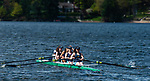 MIDDLEBURY,  CT-051519JS09-One of the Westover crew teams take to the water as they head out to the course during their first ever home crew meet on Lake Quassapaug in Middlebury on Wednesday against the Forman School of Litchfield and the Kent School. <br /> Jim Shannon Republican American