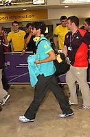 LONDRES, INGLATERRA, 17 JULHO 2012 - DESEMBARQUE SELECAO BRASILEIRA OLIMPICA EM LONDRES - Alexandre Pato da selecao masculina olimpica de futebol desembarca no Aeroporto de Heathrow em Londres na Inglaterra, nesta terca-feira, 17. (FOTO: GUILHERME ALMEIDA / BRAZIL PHOTO PRESS).