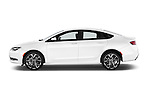 Car Driver side profile view of a 2015 Chrysler 200 S 4 Door Sedan 2WD Side View