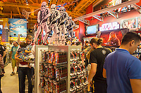 "Shoppers crowd the Toys R Us store in Times Square in New York on so-called ""Force Friday"", September 4, 2015. ""Force Friday"" is the name given by the Walt Disney Co. on the release of the Star Wars merchandise, three months prior to the release of the film. Disney acquired the Star Wars franchise in 2012 when it bought Lucasfilm for $4.1 billion. (© Richard B. Levine)"