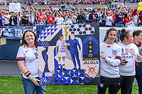 CHICAGO, IL - OCTOBER 06: Fans of the United States during a game between the USA and Korea Republic at Soldier Field, on October 06, 2019 in Chicago, IL.
