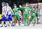 Stockholm 2015-03-14 Bandy Bronsmatch Hammarby IF - Villa Lidk&ouml;ping BK :  <br /> Hammarbys Adam Gilljam firar sitt 6-5 m&aring;l i f&ouml;rl&auml;ngningen med lagkamrater under matchen mellan Hammarby IF och Villa Lidk&ouml;ping BK <br /> (Foto: Kenta J&ouml;nsson) Nyckelord:  Tele2 Arena SM Brons Bronsmatch Tredjepris herr herrar Hammarby HIF Bajen Villa Lidk&ouml;ping VLBK