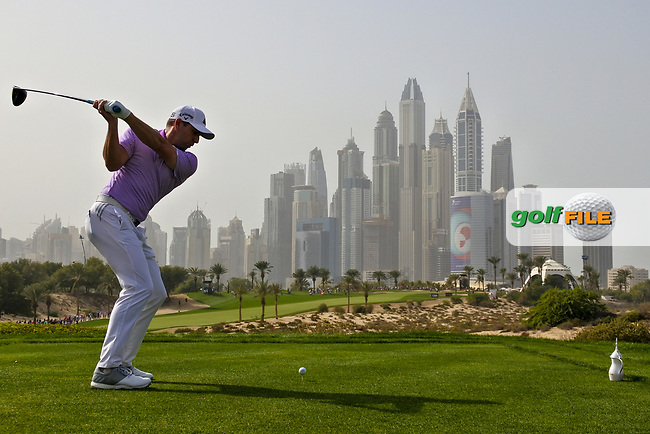 Sergio Garcia (ESP) on the 8th during Round 2 of the Omega Dubai Desert Classic, Emirates Golf Club, Dubai,  United Arab Emirates. 25/01/2019<br /> Picture: Golffile | Thos Caffrey<br /> <br /> <br /> All photo usage must carry mandatory copyright credit (&copy; Golffile | Thos Caffrey)