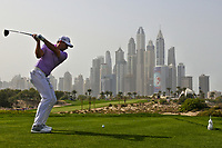 Sergio Garcia (ESP) on the 8th during Round 2 of the Omega Dubai Desert Classic, Emirates Golf Club, Dubai,  United Arab Emirates. 25/01/2019<br /> Picture: Golffile | Thos Caffrey<br /> <br /> <br /> All photo usage must carry mandatory copyright credit (© Golffile | Thos Caffrey)