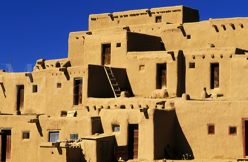 USA, New Mexico. Taos Pueblo. Continuous habitation since A.D. 1350. NO PROPERTY RELEAS