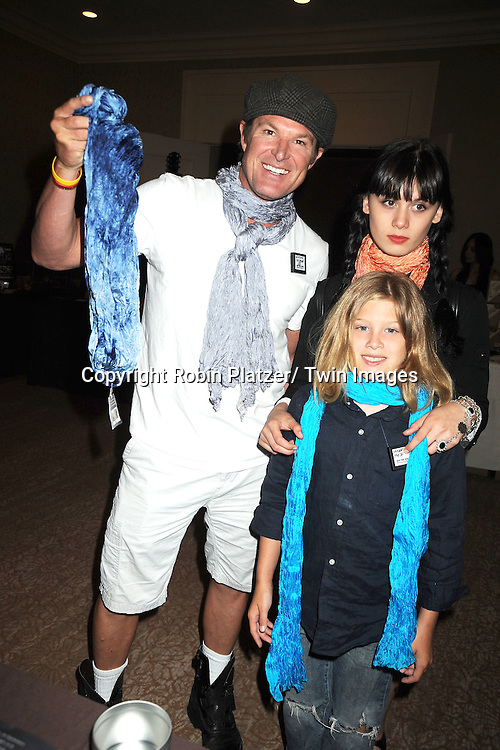 Winsor Harmon, Dewey and August  and scarf for Ronn Moss attends the Daytime Emmy Gift Suite on June 232, 2012 at the Beverly Hilton Hotel in Beverly Hills, California. Off thewallgifts.com set up the suite.