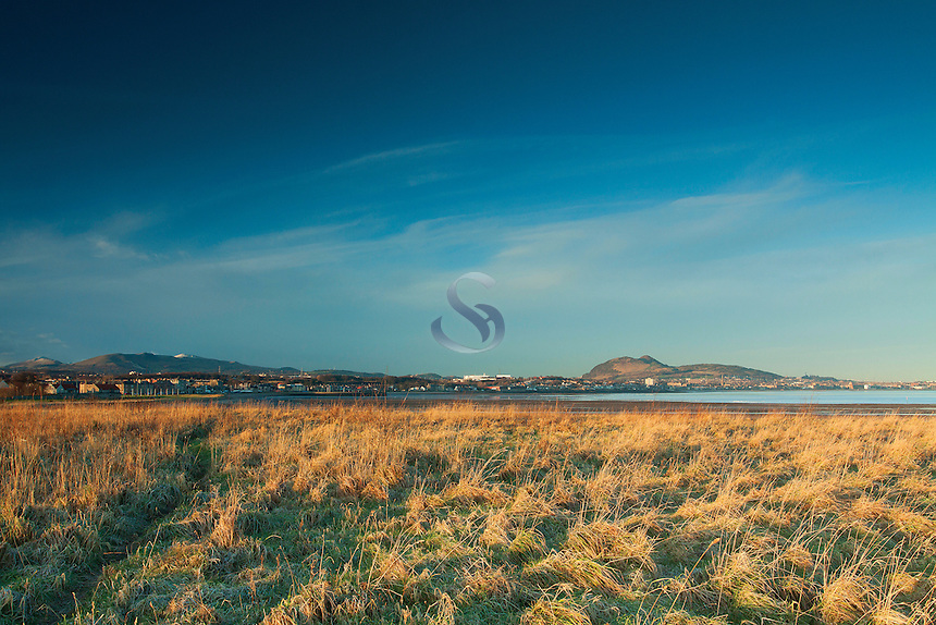Edinburgh, The Pentland's and Arthur's Seat from Musselburgh, East Lothian<br /> <br /> Copyright www.scottishhorizons.co.uk/Keith Fergus 2012 All Rights Reserved
