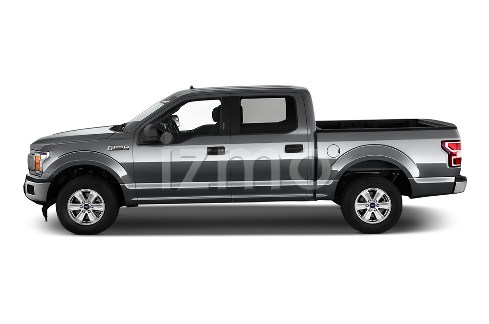 Car driver side profile view of a 2020 Ford F-150 XLT 4 Door Pick Up