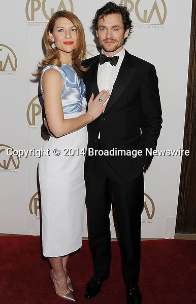 Pictured: Claire Danes, Hugh Dancy<br /> Mandatory Credit &copy; Joseph Gotfriedy/Broadimage<br /> 25th Annual Producers Guild Awards<br /> <br /> 1/19/14, Beverly Hills, California, United States of America<br /> <br /> Broadimage Newswire<br /> Los Angeles 1+  (310) 301-1027<br /> New York      1+  (646) 827-9134<br /> sales@broadimage.com<br /> http://www.broadimage.com
