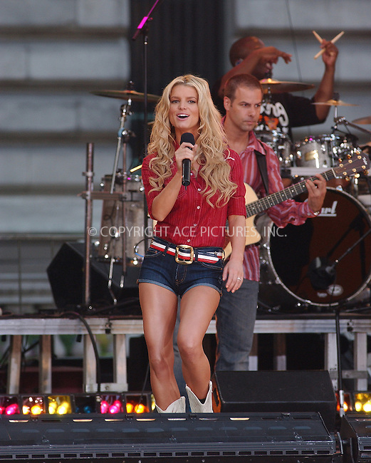 WWW.ACEPIXS.COM . . . . . ....NEW YORK, AUGUST 5, 2005....Jessica Simpson performing live on the Good Morning America Show in Bryant Park.....Please byline: KRISTIN CALLAHAN - ACE PICTURES.. . . . . . ..Ace Pictures, Inc:  ..Craig Ashby (212) 243-8787..e-mail: picturedesk@acepixs.com..web: http://www.acepixs.com