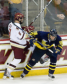 Edwin Shea (BC - 8), J.C. Robitaille (Merrimack - 16) - The Boston College Eagles defeated the Merrimack College Warriors 4-3 on Friday, October 30, 2009, at Conte Forum in Chestnut Hill, Massachusetts.