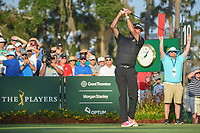 Bubba Watson (USA) watches his tee shot on 10 during round 1 of The Players Championship, TPC Sawgrass, at Ponte Vedra, Florida, USA. 5/10/2018.<br /> Picture: Golffile | Ken Murray<br /> <br /> <br /> All photo usage must carry mandatory copyright credit (&copy; Golffile | Ken Murray)