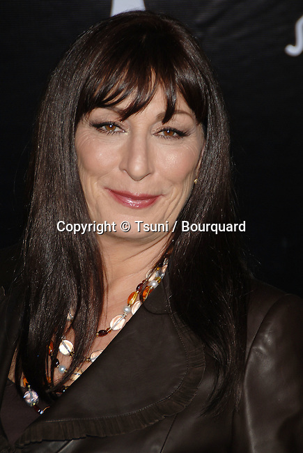 Anjelica Huston arriving at the SALVATORE FERRAGAMO RODEO WALK OF STYLE AWARDS In Los Angeles.<br /> <br /> headshot<br /> eye contact