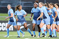 Piscataway, NJ - Sunday April 30, 2017: Erin Simon, Kayla Mills, Mandy Freeman, Leah Galton, Erica Skroski during a regular season National Women's Soccer League (NWSL) match between Sky Blue FC and FC Kansas City at Yurcak Field.