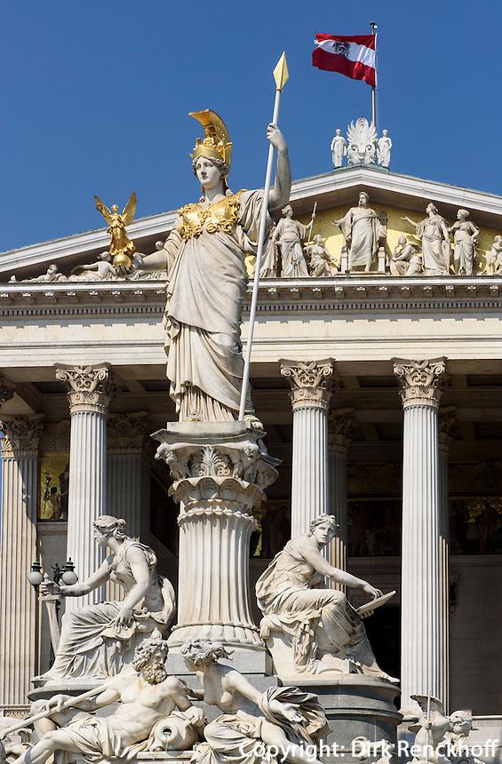Parlament, gebaut 1874-1883 von Theophil von Hansen, Dr.-Karl-Renner-Ring 3, Wien, &Ouml;sterreich, UNESCO-Weltkulturerbe<br /> Parliament built 1874-1883 by Theophil von Hansen, Vienna, Austria, world heritage