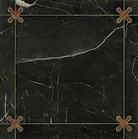 James, a stone water jet mosaic, shown in Rojo Alicante and Saint Richard, is part of the Ann Sacks Beau Monde collection sold exclusively at www.annsacks.com