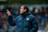 BLACKBURN, ENGLAND - JANUARY 24:   Gary Bowyer, Manager Blackburn Rovers gestures during the FA Cup Fourth Round match between Blackburn Rovers and Swansea City at Ewood park on January 24, 2015 in Blackburn, England.  (Photo by Athena Pictures/Getty Images)