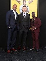 "10 June 2016 - Los Angeles, California - Dwayne 'The Rock' Johnson, director Rawson Marshall Thurber and Kevin Hart. ""Central Intelligence"" Los Angeles Premiere held at Westwood Village Theatre. Photo Credit: AdMedia"