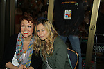 Donna McKetchnie (Loving & Dark Shadows) poses with Vanessa Ray (ATWT & Hair) at The 24th Annual Broadway Flea Market & Grand Auction to benefit Broadway Cares/Equity Fight Aids on September 26, 2010 in Shubert Alley, New York City, New York. (Photo by Sue Coflin/Max Photos)