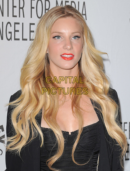 HEATHER MORRIS .at The PaleyFest 2011 Panel for Glee held at The Saban Theater in Beverly Hills, California, USA, March 16th,2011..portrait headshot bustier ruched red lipstick make-up black                                              .CAP/RKE/DVS.©DVS/RockinExposures/Capital Pictures.