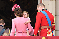 Princess Charlotte<br /> on the balcony of Buckingham Palace during Trooping the Colour on The Mall, London. <br /> <br /> <br /> &copy;Ash Knotek  D3283  17/06/2017