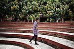 INDIA, KERALA JUNE 2014: <br />Sarita Lamichhane, Nepal blind student of Kanthari , June 2014 @Giulio Di Sturco