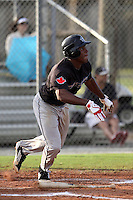 Malik Collymore, #12 of Port Credit SS High School, Ontario, Canada playing for the Ontario Blue Jays during the WWBA World Champsionship 2012 at the Roger Dean Complex on October 27, 2012 in Jupiter, Florida. (Stacy Jo Grant/Four Seam Images)