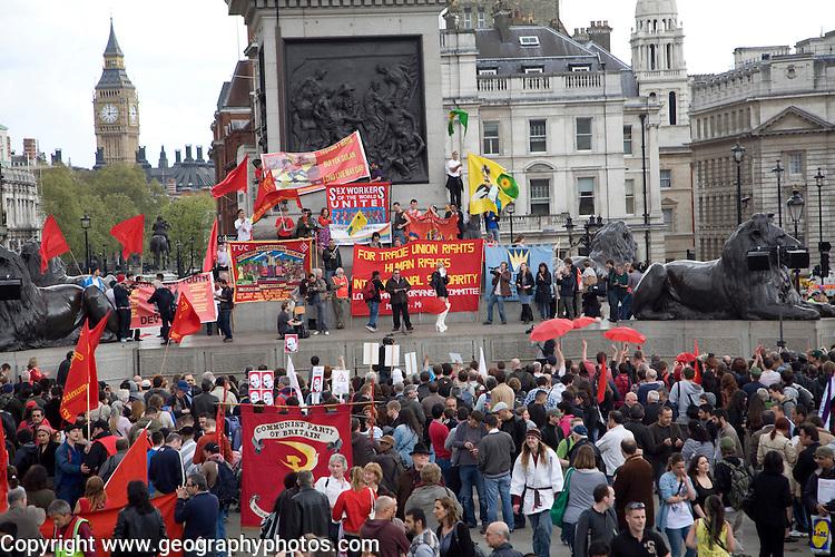 May Day march and rally at Trafalgar Square, May 1st, 2010