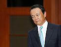 Taro Aso, Aug 27, 2016 : Japanese Finance Minister Taro Aso takes a seat for a talks with his South Korean counterpart Yoo Il-ho (not seen in photo) at an office of the South Korean Government Complex Seoul in Seoul, South Korea. The bilateral meeting was the seventh talks between Japan and South Korea since 2006. The finance ministers from Japan and South Korea agreed on Saturday to resume a currency swap deal to strengthen bilateral economic cooperation, local media reported. (Photo by Lee Jae-Won/AFLO) (SOUTH KOREA)