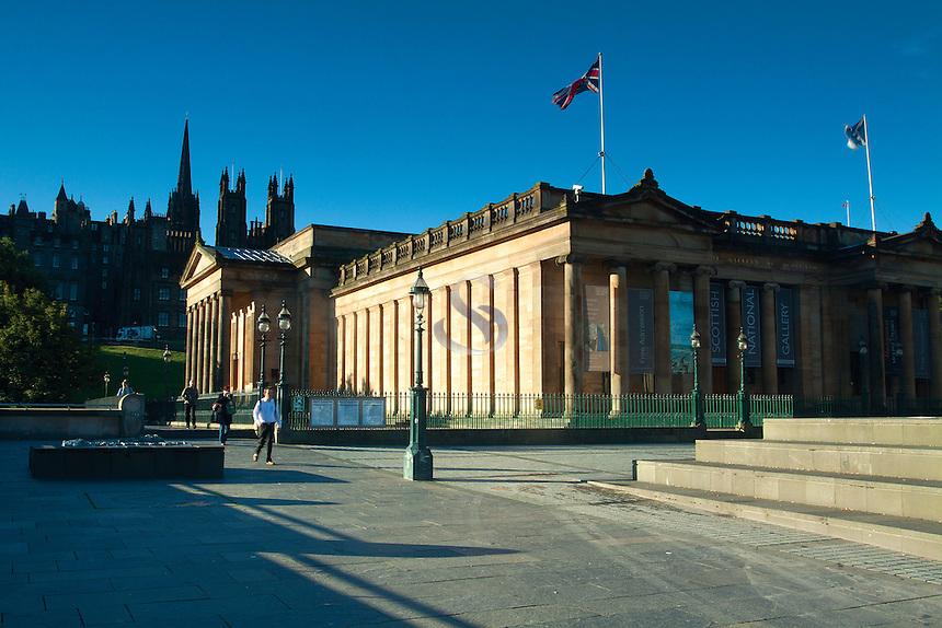 The National Gallery of Scotland, Princes Street Gardens, Edinburgh