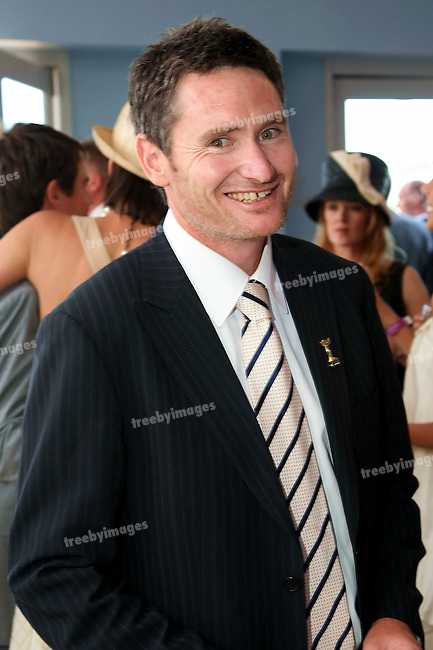 Comedian Dave Hughes in the Emirates Marquee on Oaks day, Oaks Day,Melbourne Cup Carnival,  6-10-08