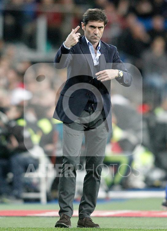 Villareal's coach Marcelino Garcia Toral during La Liga match. April 20,2016. (ALTERPHOTOS/Acero)