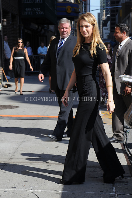 WWW.ACEPIXS.COM . . . . .....September 2, 2008. New York City.....Actress Anna Torv arrives at 'The Late Show with David Letterman' at the Ed Sullivan Theater on September 2, 2008 in New York City...  ....Please byline: Kristin Callahan - ACEPIXS.COM..... *** ***..Ace Pictures, Inc:  ..Philip Vaughan (646) 769 0430..e-mail: info@acepixs.com..web: http://www.acepixs.com