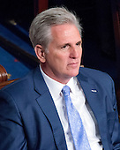 United States House Majority Leader Kevin McCarthy (Republican of California) listens to the speeches on the floor of the US House of Representatives on the first day of the 115th Congress in the US Capitol in Washington, DC on Tuesday, January 3, 2017.<br /> Credit: Ron Sachs / CNP<br /> (RESTRICTION: NO New York or New Jersey Newspapers or newspapers within a 75 mile radius of New York City)