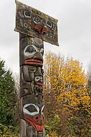 Haida mortuary pole, Museum of Anthropology (MOA), Vancouver, BC, Canada