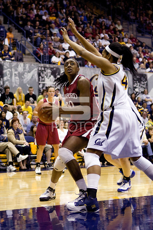 BERKELEY, CA - JANUARY 18:  Nnemkadi Ogwumike of the Stanford Cardinal during Stanford's 57-54 loss to the California Golden Bears on January 18, 2009 at Haas Pavilion in Berkeley, California.