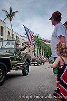 The City of Naples July 4th Celebration kicked off with a parade along historic 5th Avenue South, Naples, Florida, USA, Saturday, July 3, 2010. Looking forward to the fireworks tomorrow nite at 9 pm... !!! Photo by Debi PIttman Wilkey