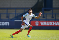 Easah Suliman (Cheltenham Town on loan from Aston Villa) of England U19 during the International match between England U19 and Netherlands U19 at New Bucks Head, Telford, England on 1 September 2016. Photo by Andy Rowland.