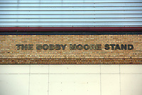 Pictured: Exterior view of the Bobby Moore Stand of Boleyn Ground. 01 February 2014<br /> Re: Barclay's Premier League, West Ham United v Swansea City FC at Boleyn Ground, London.
