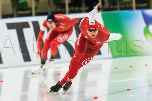 January 29th 2017, Sportforum, Berlin, Germany; ISU Speed Skating World Cup;  ISU Speed Skating World Cup 1000m Division A; Piotr Michalski (POL)