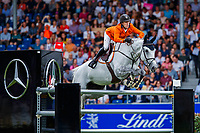 NED-Maikel Van Der Vlueten rides Dana Blue during the Mercedes-Benz CSIO5* Nationenpreis. 2019 GER-CHIO Aachen Weltfest des Pferdesports. Thursday 18 July. Copyright Photo: Libby Law Photography