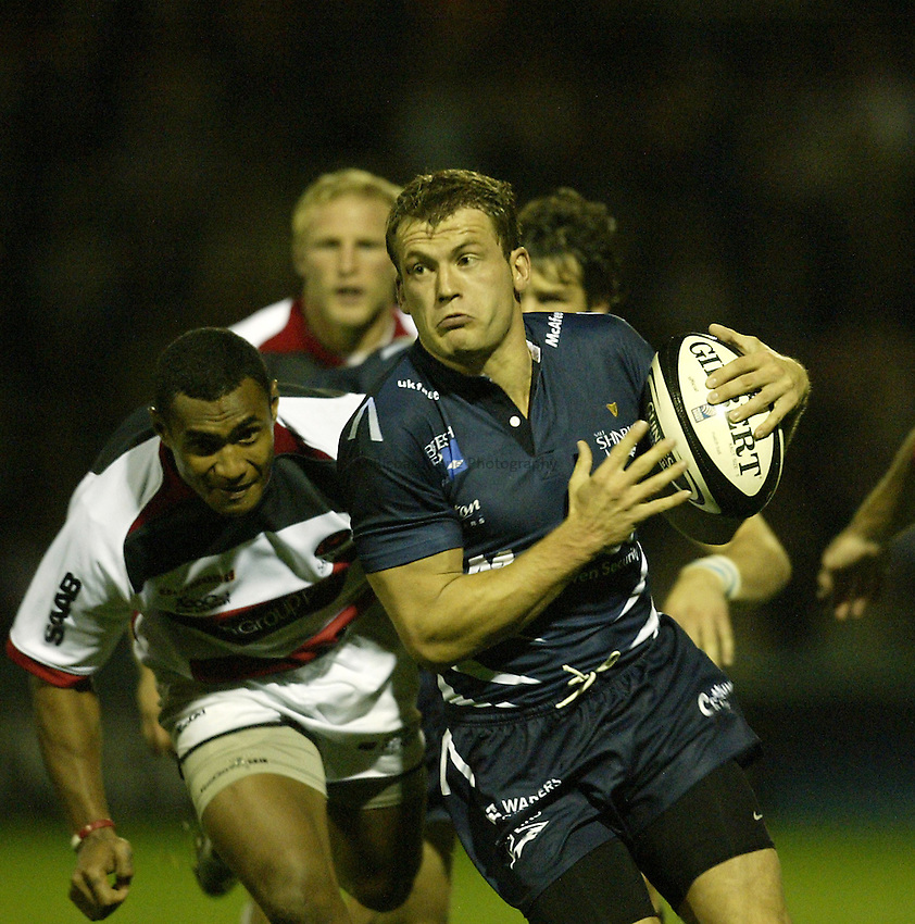 Photo: Aidan Ellis..Sale Sharks v Saracens. Guinness Premiership. 22/09/2006..Sale's Mark Cueto.