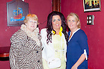 Kathleen Collins(Jack Foley's Bar), Winnie McCarthy, Abbeyfeale and Jane Collins, Abbeyfeale pictured last Friday night in Jack Foley's Bar for a special fundraiser for The Irish Cancer Society.