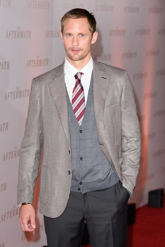 "Alexander Skarsgard<br /> arriving for the premiere of ""The Aftermath"" at the Picturehouse Central, London<br /> <br /> ©Ash Knotek  D3479  18/02/2019"