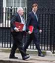 Day before the Budget 2013..Eric Pickles with Danny Alexander  outside Downing Street today 19.3.13.....Pic by Gavin Rodgers/Pixel 8000 Ltd
