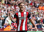 Billy Sharp of Sheffield Utd celebrates scoring the winning goal during the Championship League match at Bramall Lane Stadium, Sheffield. Picture date 19th August 2017. Picture credit should read: Simon Bellis/Sportimage